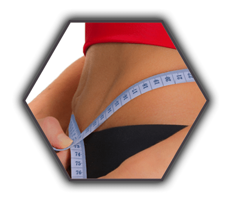 weight loss results tape measure